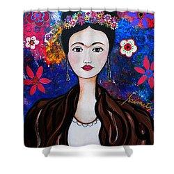 Frida Kahlo Shower Curtain by Pristine Cartera Turkus