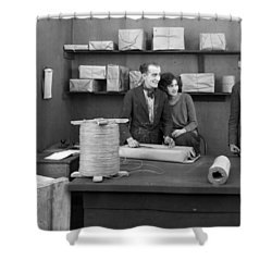 Silent Film Still: Offices Shower Curtain by Granger