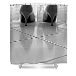 Pumps Shower Curtain by Joana Kruse