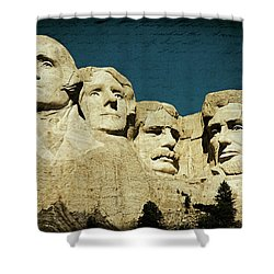 150 Years Of American History Shower Curtain