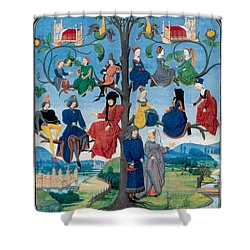 15th-century Family Tree Shower Curtain by Photo Researchers