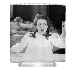 Damsel In Distress Shower Curtain by Granger