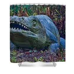 Dinosaur Shower Curtain by Dawn OConnor