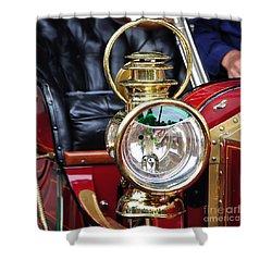 1907 Stanley Steamer - Lantern Shower Curtain by Kaye Menner