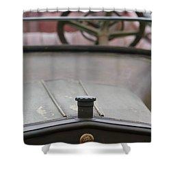 1916 Winton Model 33 Touring Hood Ornament Shower Curtain by Jill Reger