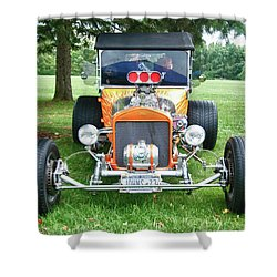 1923 T-bucket 8584 Shower Curtain by Guy Whiteley