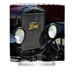 1925 Ford Model T Coupe Grille Shower Curtain by Jill Reger
