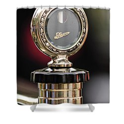 1927 Pierce-arrow Limousine Motometer Hood Ornament Shower Curtain by Jill Reger