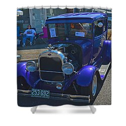 Shower Curtain featuring the photograph 1929 Ford Model A by Tikvah's Hope