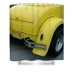 1930 In Yellow Shower Curtain