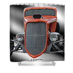 1933 Ford Roadster - Hotrod Version Of Scream Shower Curtain