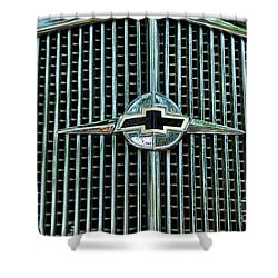 1934 Chevrolet Grill  Shower Curtain by Paul Ward