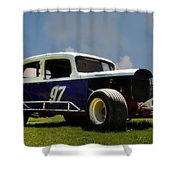 1934 Ford Stock Car Shower Curtain by Bill Cannon