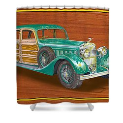 1934 Hispanosuzia Shooting Brake Shower Curtain by Jack Pumphrey
