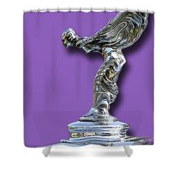 1934 Rolls Royce Spirit Mascot Shower Curtain by Jack Pumphrey