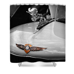 1935 Dodge Brothers Pickup - Ram Hood Ornament Shower Curtain by Gordon Dean II