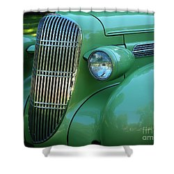 1935 Oldsmobile Grill Shower Curtain by Peter Piatt