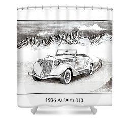 1936 Auburn 810 Shower Curtain by Jack Pumphrey