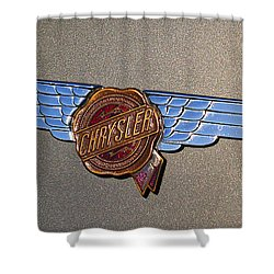 1937 Chrysler Airflow Emblem Shower Curtain by Gordon Dean II