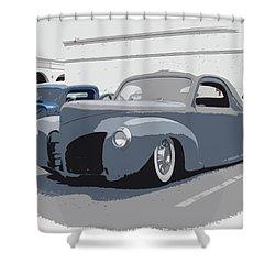 1940 Lincoln Shower Curtain by Steve McKinzie