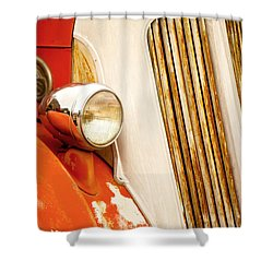 1940's Seagrave Fire Engine Shower Curtain