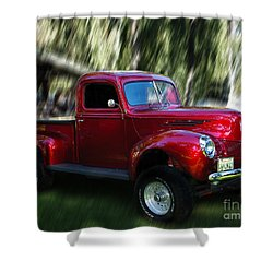 1941 Ford Truck Shower Curtain by Peter Piatt