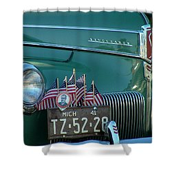 1941 Studebaker Shower Curtain by Dennis Pintoski