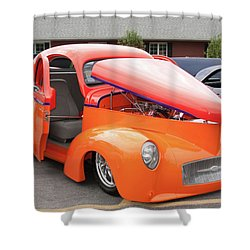 1941 Willys Coupe 7774 Shower Curtain by Guy Whiteley