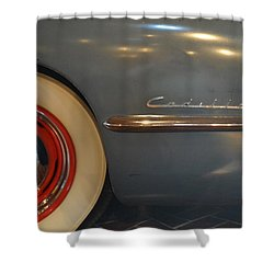 1942 Cadillac - Series 62 Sedanette Fastback Shower Curtain by Michelle Calkins
