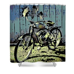 1947 Whizzer Shower Curtain by George Pedro