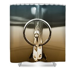 1948 Buick Eight Super Hood Ornament Shower Curtain by Bill Cannon