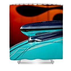 1948 Chevy Hood Ornament Shower Curtain by Douglas Pittman