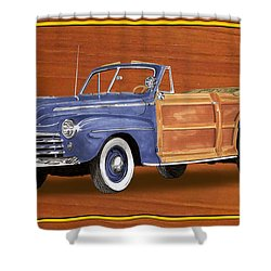 1948 Ford Sportsman Convert. Shower Curtain by Jack Pumphrey