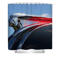 1948 Pontiac Silver Streak Hood Ornament Shower Curtain by Gordon Dean II