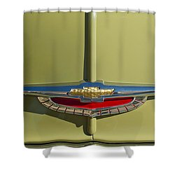 1950 Chevrolet Fleetline Emblem Shower Curtain by Jill Reger