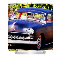 Shower Curtain featuring the photograph 1950 Ford  Vintage by Peggy Franz