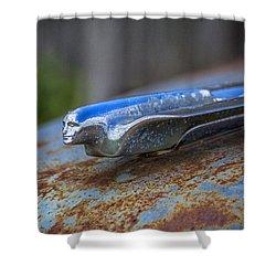 1950s Cadillac Hood Ornament - Torcwori Shower Curtain