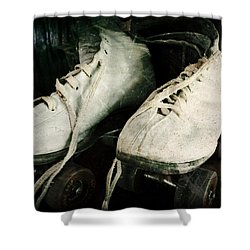 1950's Roller Skates Shower Curtain