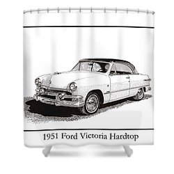 1951 Ford Victoria Hardtop Shower Curtain by Jack Pumphrey