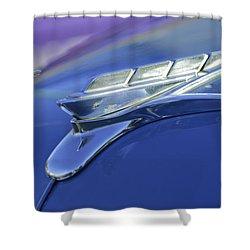 1951 Plymouth Hood Ornament Shower Curtain by Jill Reger
