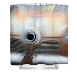 1951 Studebaker Abstract Shower Curtain by Randy J Heath