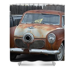 1951 Studebaker Shower Curtain by Randy J Heath