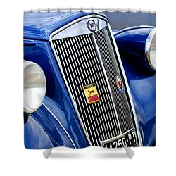 1952 Lancia Ardea 4th Series Berlina Grille Emblems Shower Curtain by Jill Reger