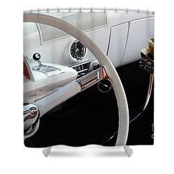 1952 Mercury Interior Shower Curtain by Bob Christopher