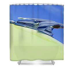 1953 Chevrolet Pickup Hood Ornament Shower Curtain by Jill Reger