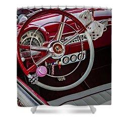1953 Ford Crestline Victoria Shower Curtain by Susan Candelario