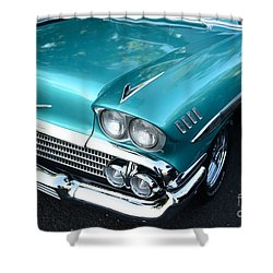 1955 Chevy Belair Front End Shower Curtain by Paul Ward