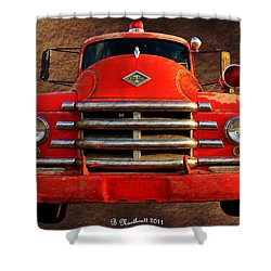 1955 Diamond T Grille - The Cadillac Of Trucks Shower Curtain