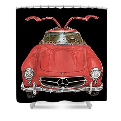 1955 Mercedes Benz 300sl Gull Wing  Shower Curtain by Jack Pumphrey