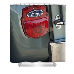 1956 Ford F-100 Truck Taillight Shower Curtain by Jill Reger